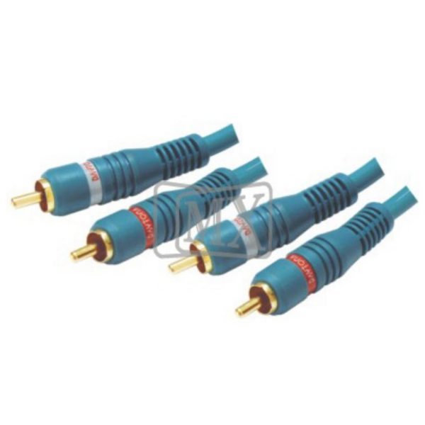 2 RCA MALE / 2 RCA MALE CORD HIGH RESOLUTION OFC CABLE (G.P.) 3 MTR ...