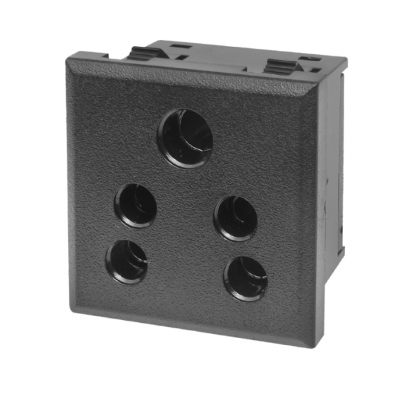 SNAP MOUNTING AC OUTLET INDIAN STANDARD (PC MOLDING)6 Amp. 250v MX ...